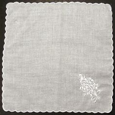Dozen Ladies handkerchiefs with scalloped edge for embroidering