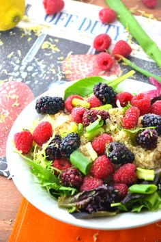 Quinoa Salad | Blackberry Recipe | Gluten Free Recipes - The Healthy Apple
