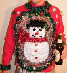Ugly Christmas Sweater idea @Marianne Glass Glass Burchard Design Watts - this one would be so hilarious! #lulus #holidaywear