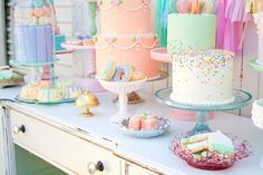 Minted & Vintage 2nd anniversary dessert table   100 Layer Cakelet