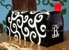 Hand painted mailbox. www.facebook.com/lotzadotzbynatalie