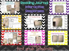 read journal, interact read, interact notebook, grade read, reading journals, interactive notebooks, journal interact, first grade, 1st grade