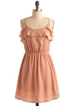 Peach Petals Dress | Mod Retro Vintage Printed Dresses | ModCloth.com - StyleSays