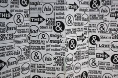 I love the mix of words, phrases and symbols in this craft back drop - it would work just as well as a screen or divider in your house. A place to honour all the type that you love!