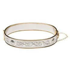 Show your Irish spirit, strength, and beauty with the gorgeous Celtic Warrior jewelry line!  Made in Ireland!  In stock -- ships fast!  Sterling Silver  Gold Plate Celtic Warrior Irish Bangle Bracelet  Price : $299.95 http://www.biddymurphy.com/Sterling-Silver-Celtic-Warrior-Bracelet/dp/B00512MICU