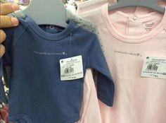 """Intelligent like dad,"" ""pretty like mom"" t-shirts (thanks @ hipercor and @ Fem_Toman_Parti)"