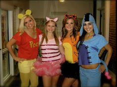 Halloween Group Costumes Pooh and friends