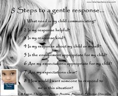 Challenging behaviors from our children can be...well, challenging! Here are eight steps to help you work your way from a negative reaction toward a gentle, positive, constructive response. www.littleheartsbooks.com
