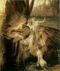 angel, herbert jame, jame draper, art, lament, paint, herbert draper, greek mythology, icarus