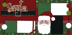 Santa 2-page layout. Love the belt detail under the title.