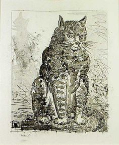 Le Chat [Cat] | Aquatint and drypoint etching, 1936/1942 | Pablo Picasso