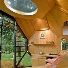 Portable dome inside view garden office, interior, house design, manuel villa, architects, architectur, tiny houses, mini houses, villas