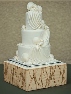 creamy, elegant seaside inspired creation by Raise the Cake