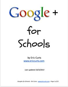 A Must Read Google Plus Guide for Schools ~ Educational Technology and Mobile Learning