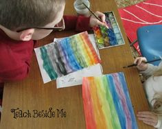watercolor rainbow paper weaving craft. Home Art Studio DVD!!!