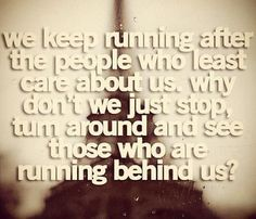 what if there is nobody running behind me?