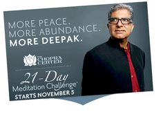 Deepak Chopra is offering another 21 Day Meditation experience starting Nov. 5th, 2012.  It's FREE to join.