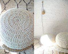 Pouf Crochet Wool