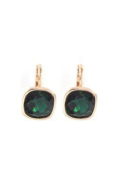 + Earrings in Emerald