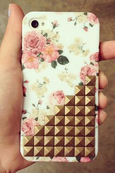iphone cases, iphone 4s, floral prints, iphon case, stud, phone covers, iphone 4 cases, flower, appl