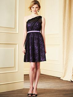 Alfred Angelo Bridesmaid Style 7281S in Black/Purple