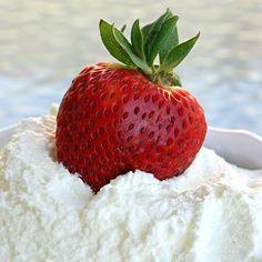 Homemade whipped cream!