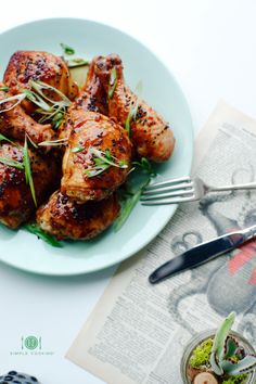 STICKY SPICY HONEY CHICKEN — 1-2 Simple Cooking