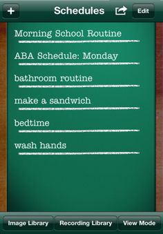 Visual Schedules for iPad