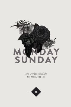 #graphicdesign #poster Monday Sunday Layout