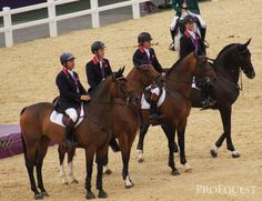 What a beautiful team of horses - the British gold medal winning showjumping squad | ProEquest