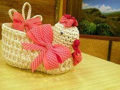 CLICKFIOS.com - A um click da sua Arte: Galinha de Crochê Endurecido.. ♪ ♪ ... #inspiration_crochet #diy GB