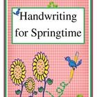 This is a clever little set of Springtime Handwriting cards for your literacy centers, whole group instruction or guided reading.. Handwriting card...