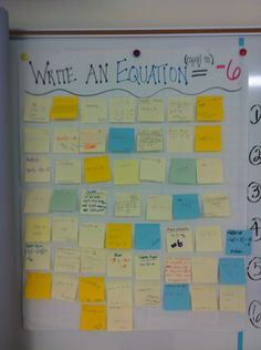 MATH EXIT TICKET STATEGY: Post-It, Prove It!