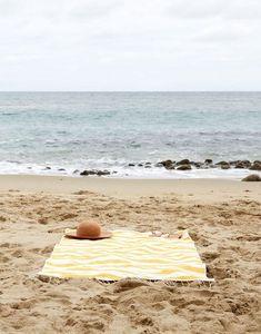 Beach blanket.