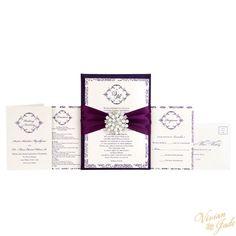 "Vivian Jade ""Susan"" Couture Silk Fabric Invitation Pad"