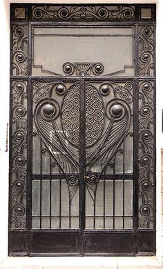 Wrought Iron Door, Casablanca Wow, do I love this wrought Iron door. I love wrought iron.