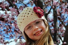 fabulous EASY hat to make a little girl.