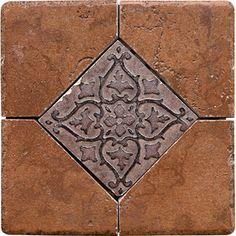 Del Conca 6-in x 6-in Rialto Terra Thru Body Porcelain Square Accent Tile