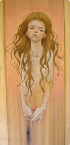 She  Oil on wood  2005