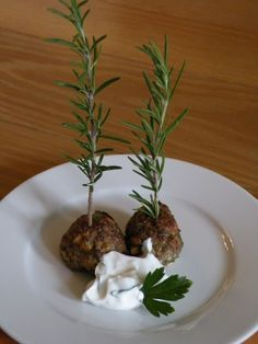 Greek Herbal Meatballs...Keftedakia