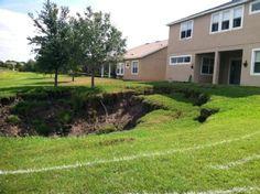 Yikes! Sinkhole in backyard!
