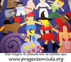 12 personagens do folclore feitos em EVA - Pra Gente Miúda