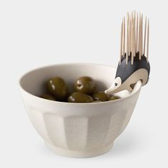 Kipik Toothpick Holder by Erwan Péron. I love that this little guy can perch on bowls or just sit pretty on a table. Perfect for parties!