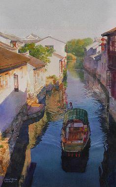 Water Town II by Tianya Zhou