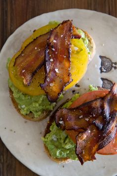Avocado, Bacon and Tomato Toast