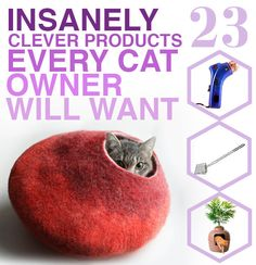 23 Insanely Clever Products Every Cat Owner Will Want {Kind of off topic...but I love cats! =^..^=}
