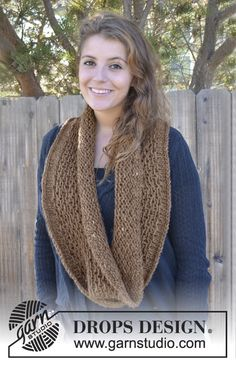 """Free pattern: Knitted DROPS Neck warmer in """"Drops Loves You #2"""" ~ DROPS Design #DLY"""