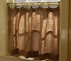 DIY Decor: DIY Burlap Cafe Curtains Tutorial