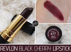 Revlon Black Cherry Lipstick: It looks so dark but I love the color on skin.