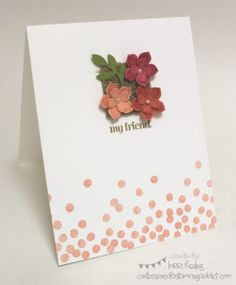 Cruise Inspiration :: Confessions of a Stamping Addict Lorri Heiling CASE from Dena Rekow - just added dots!
